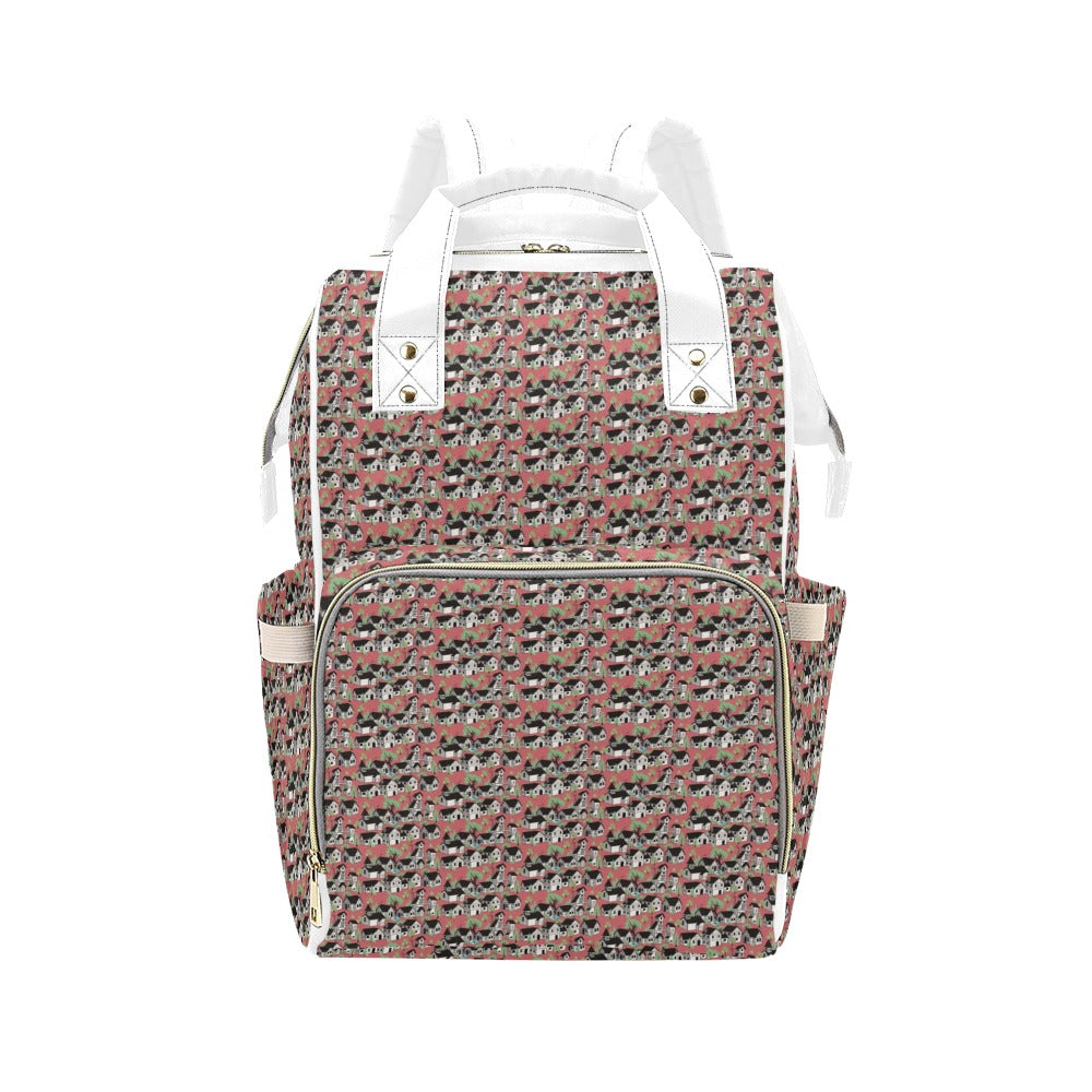 Medieval Village Multi-Function Diaper Backpack
