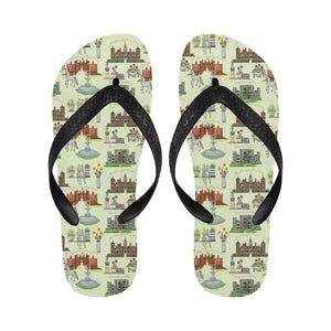 Anne Boleyn's Homes and a Summer English Garden Flip Flops for Men/Women