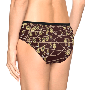 Anne Boleyn Portrait Pattern Women's Mid Rise Briefs