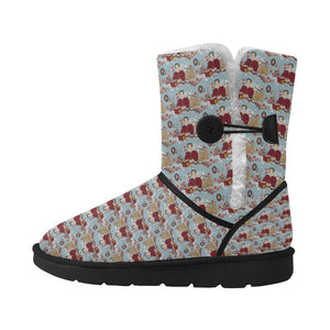 katherine parr snow boots Unisex Single Button Snow Boots (Model 051)