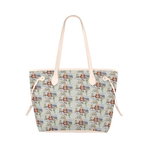Anne of Cleves Tote Clover Canvas Tote Bag (Model 1661)