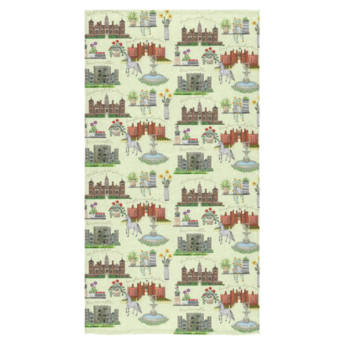 Anne Boleyn's Homes and a Summer English Garden Bath Towel