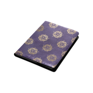 Purple and gold roses B5 size custom notebook/journal