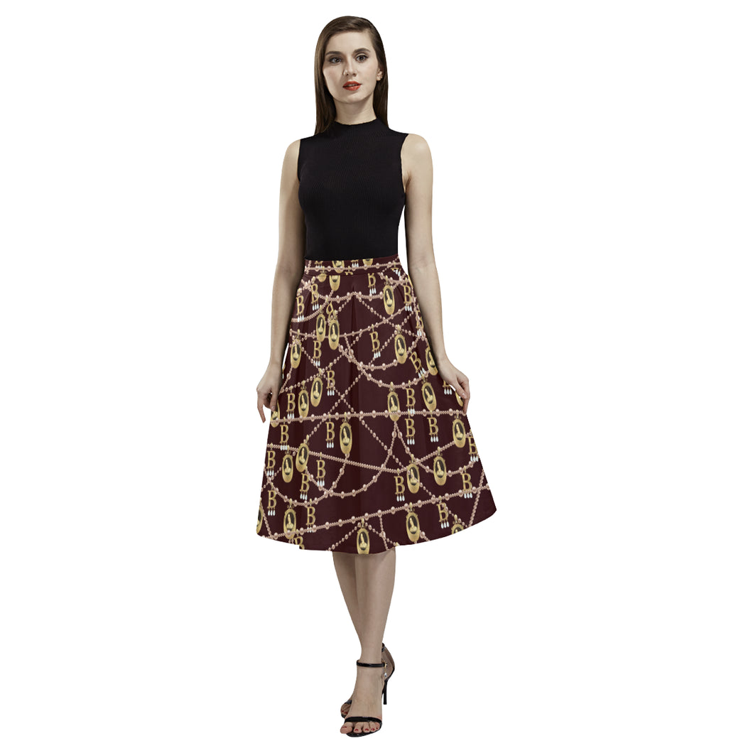 Anne Boleyn Portrait Crepe Skirt