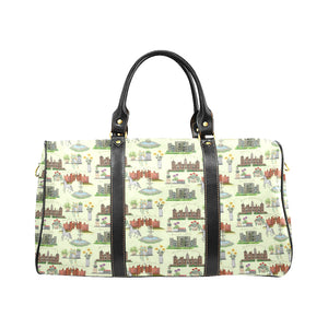 Anne Boleyn's Homes and a Summer English Garden Waterproof Travel Bag/Large