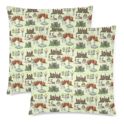 Anne Boleyn's Homes and a Summer English Garden Custom Zippered Pillow Cases 18