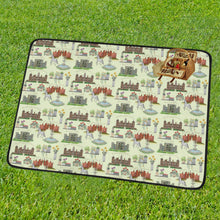 Anne Boleyn's Homes and a Summer English Garden Portable & Foldable Mat