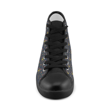 Elizabeth I Signature Canvas Black High Tops