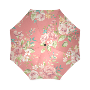 vintage rose pattern 1 Foldable Umbrella