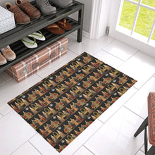 "Six Wives Dinner Party Azalea Doormat 30"" x 18"""