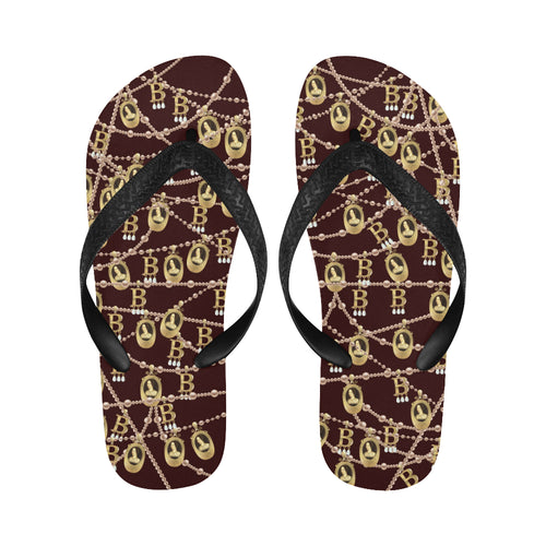 Anne Boleyn Portrait Pattern Flip Flops for Men/Women