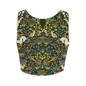 Unicorn Tapestry Women's Crop Top