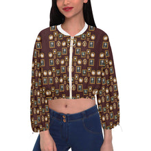 Kickass Women Jacket Cropped Chiffon Jacket for Women (Model H30)