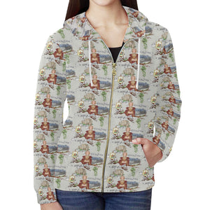 Anne of Cleves Zip Hoodie for Women