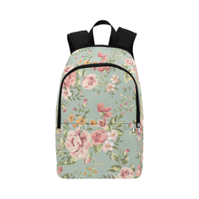 Vintage flower fabric adult backpack