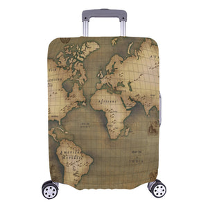 "Old Map Luggage Cover (Large) 26""-28"""
