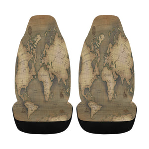 Old Map Car Seat Cover (Airbag Compatible)