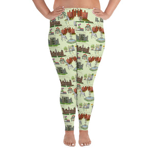 Anne Boleyn Homes and Spring English Garden All-Over Print Plus Size Leggings