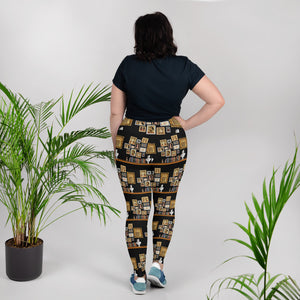 The Six Wives Portrait Pattern All-Over Print Plus Size Leggings