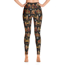 """The Six Wives Dinner Party"" Yoga Leggings, Featuring Henry VIII's Six Wives"