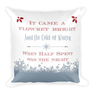 """It Came a Flow'ret Bright,"" Decorative Throw Pillow"