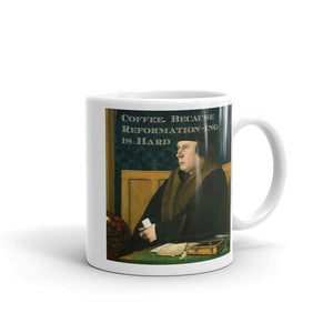 "Cromwell ""Coffee. Because Reformation-ing is hard,"" mug"