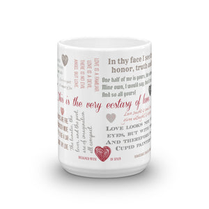 2018 Valentine's Day Shakespeare Love Mug