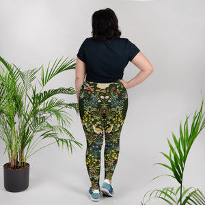 Medieval Unicorn Pattern All-Over Print Plus Size Leggings