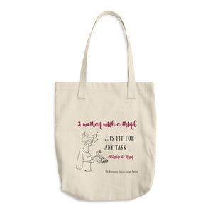 """A Woman with a Mind..."" Christine de Pizan Quote Bag"