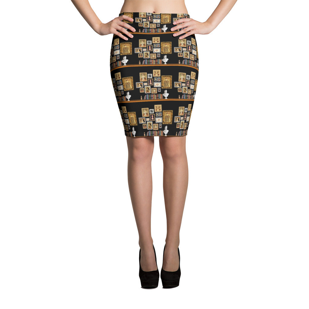 The Six Wives Portrait Pencil Skirt