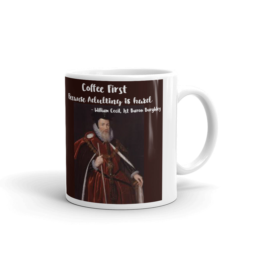 Cecil: Coffee, because Adulting is hard Coffee Mug