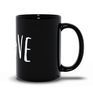 Tudor Love Black Mug