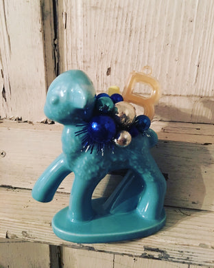 Vintage Blue Lamb For Baby