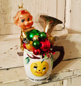 "Vintage ""Drink Orange Juice"" Cup #2 - Christmas"