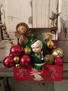 Vintage Angel Recipe/Address Box - Christmas