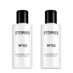 STORIES Parfums is a collection of Hand & Body products designed to complement our fragrances and embellish your scented story. Full of nourishing ingredients and gentle on skin, the Hand & Body Washes and Lotions are infused with a delicate veil of fragrance, allowing you to layer and lock the notes as you wish. • Paraben and SLS Free • Cruelty Free
