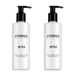 A delicately fragranced hand and body duo, to cleanse, nourish and hydrate skin. Paraben free, Cruelty Free, SLS Free.