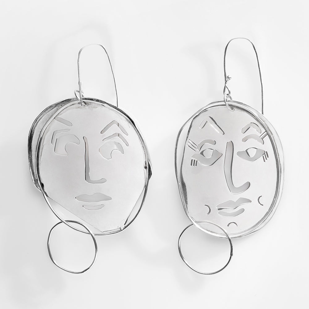 Juan Carlos y Isabella Earrings, Sterling