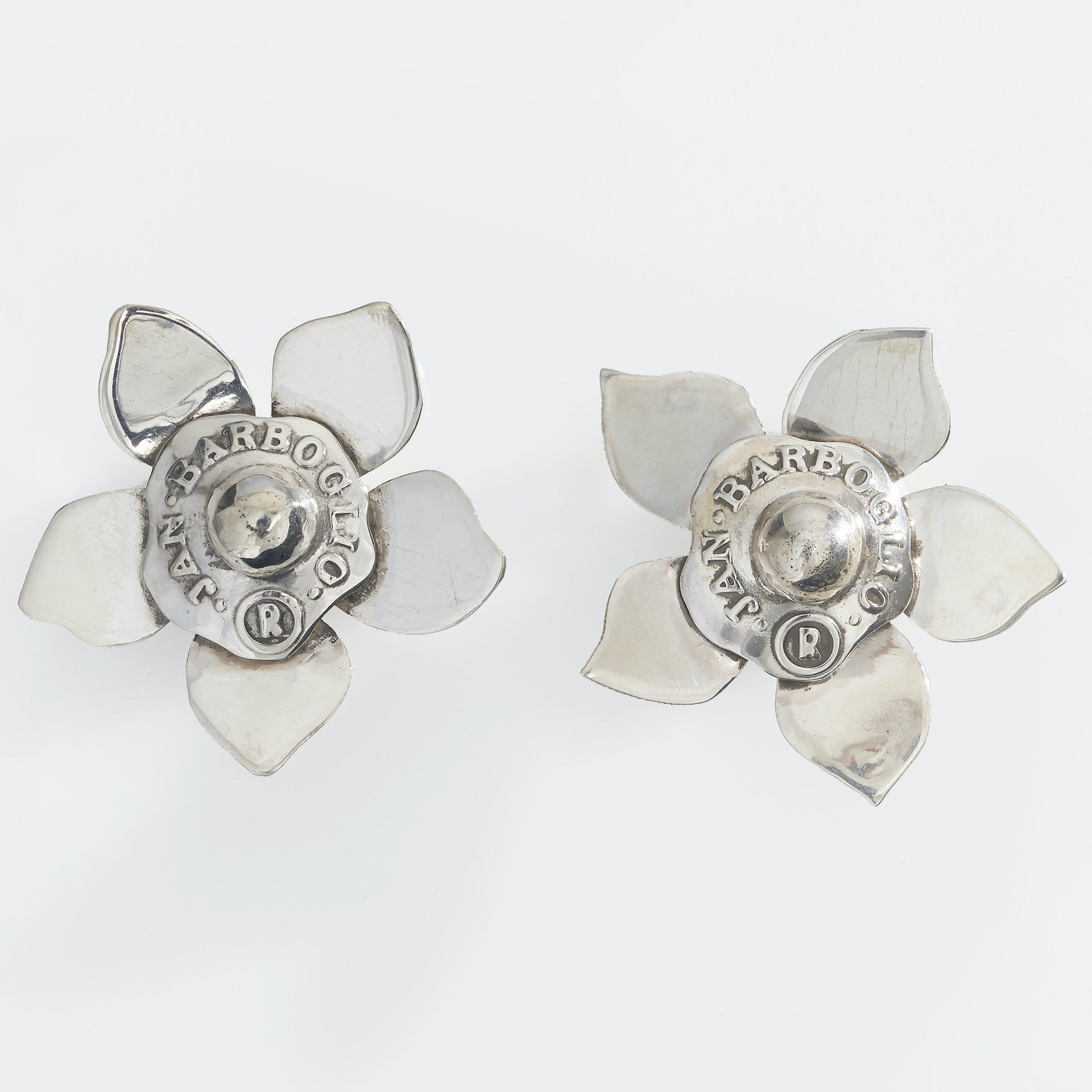 Flor Sello Earrings, Sterling