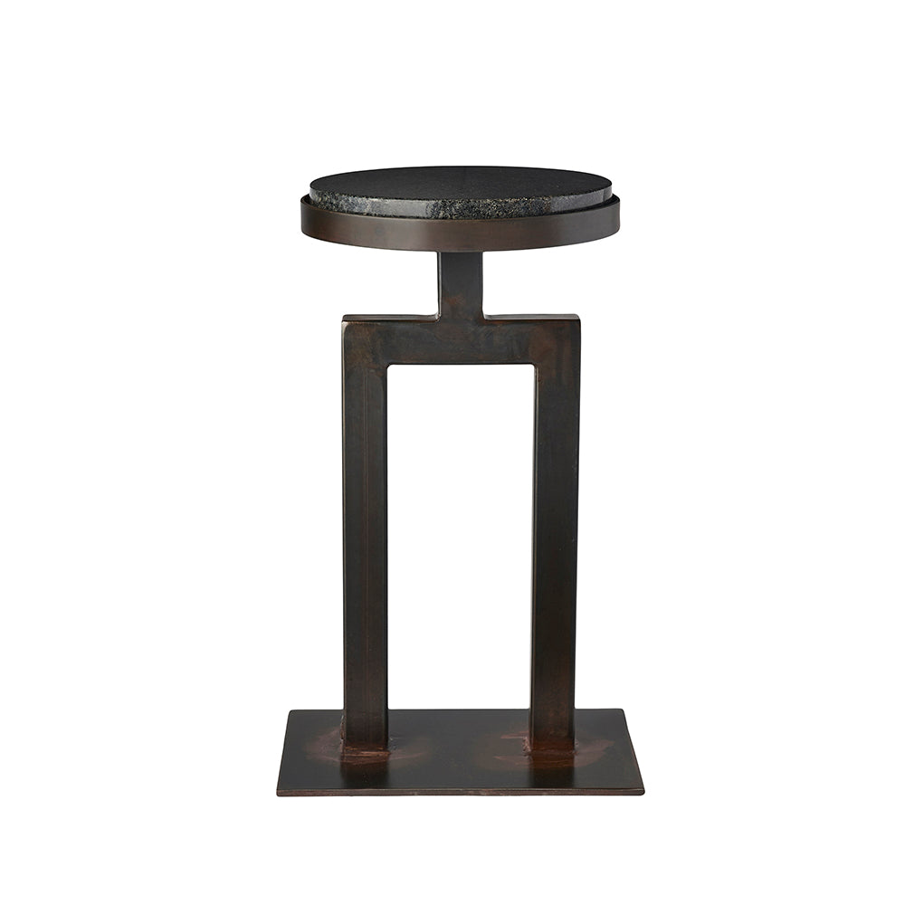 Round Granite Side Table