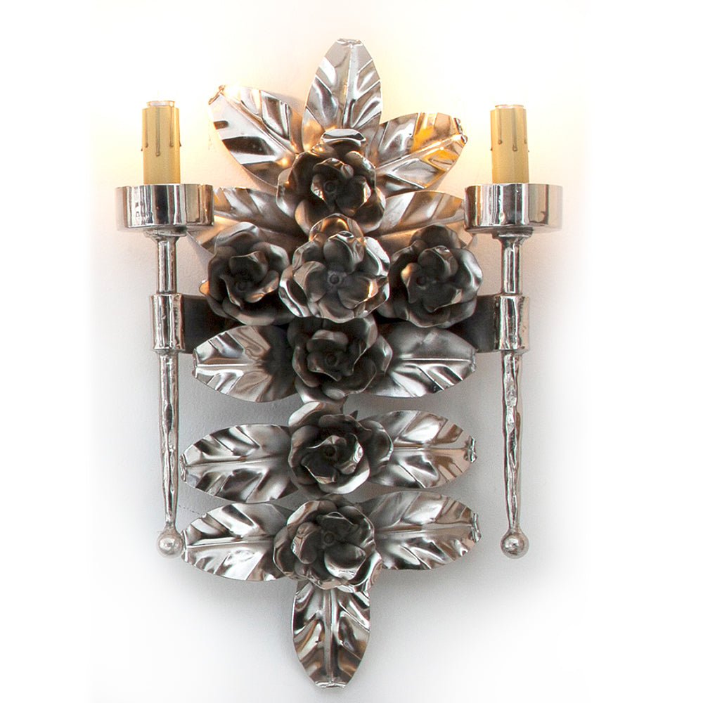 Madre Selva Honeysuckle Sconce, Nickel (Electrified)