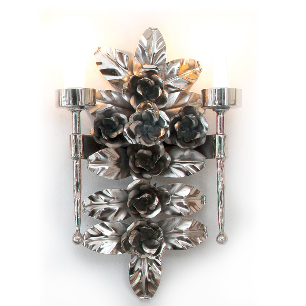 Madre Selva Honeysuckle Sconce, Nickel