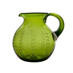 Floreado Pitcher, Green
