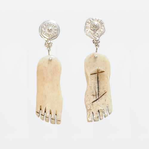 Juan Bautista Earrings, Sterling