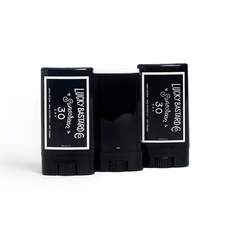 the 3 Pack Sunscreen Sticks - Lucky Bastard Co