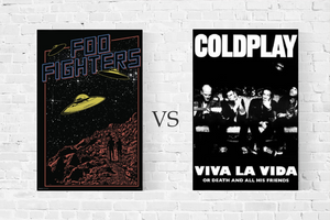 Foo Fighters vs Coldplay posters