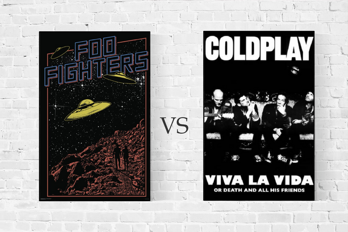Foo Fighters vs Coldplay - Poster Battle