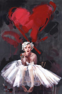 Marilyn Monroe Painting by James Paterson - Poster