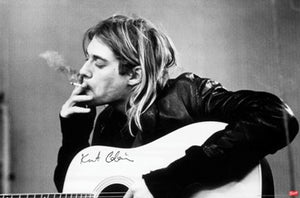 Nirvana  - Kurt Cobain Smoking - Music Poster - egoamo.co.za