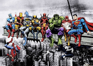 Super heroes lunch poster